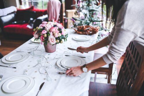 menaje de mesa para Navidad